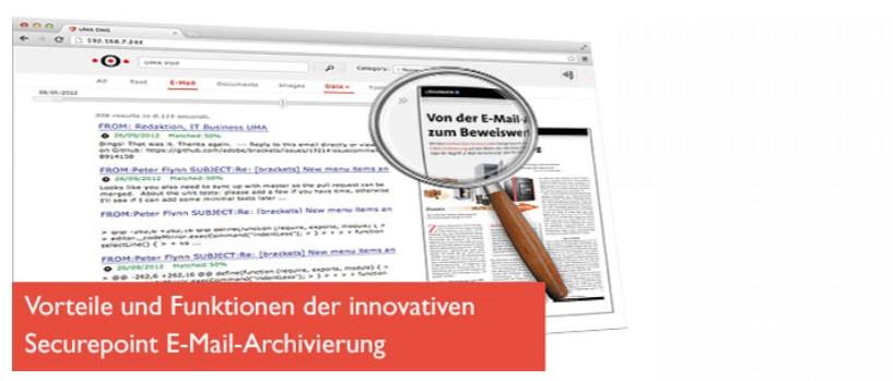 Sichere E-Mail Archivierung